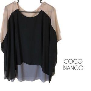 Coco Bianco | Black Sheer blouse